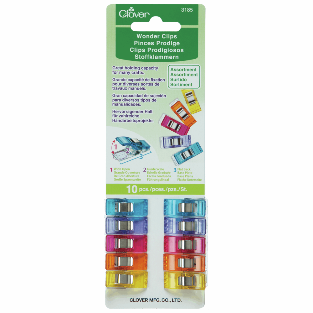 Wonder Clips - Assorted Colours - Pack of 10
