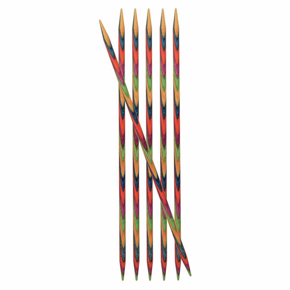 Double-Ended Knitting Pins - 2.50mm x 15mm - Set of Six (KnitPro Symfonie)