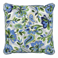 Tapestry Kit - Cushion -  Paisley Floral in Blue (Anchor Living)