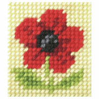 Needlepoint Kit - My First Embroidery - Poppy (Orchidea)