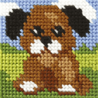 Mini Needlepoint Kit - My First Embroidery - Puppy (Orchidea)