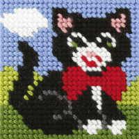 Mini Needlepoint Kit - My First Embroidery - Kitten (Orchidea)