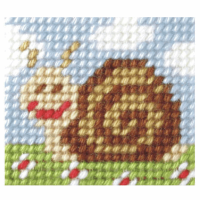 Needlepoint Kit - My First Embroidery - Sammy Snail (Orchidea)
