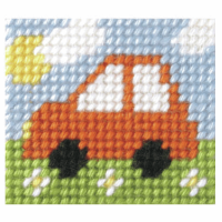 Needlepoint Kit - My First Embroidery - Mini Car (Orchidea)