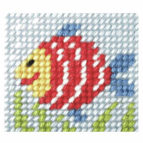 Needlepoint Kit - My First Embroidery - Rainbow Fish (Orchidea)