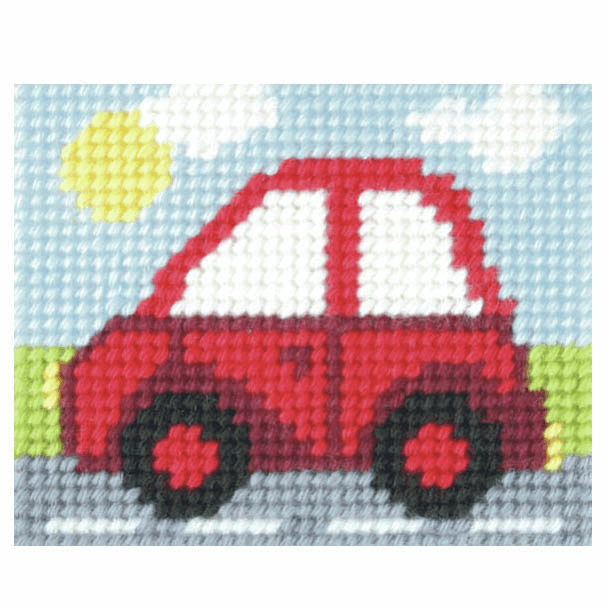 Needlepoint Kit - My First Embroidery - Little Red Car (Orchidea)