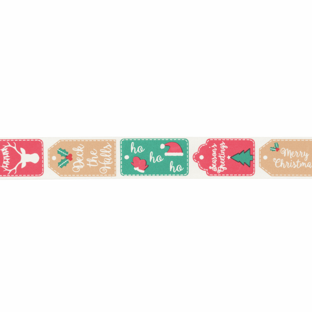 Christmas Ribbon - Christmas Tags