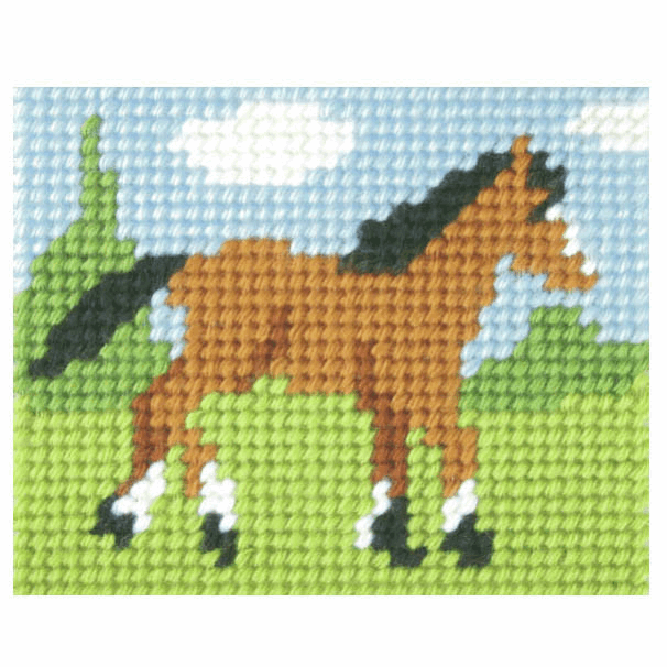 Needlepoint Kit - My First Embroidery - Foal (Orchidea)