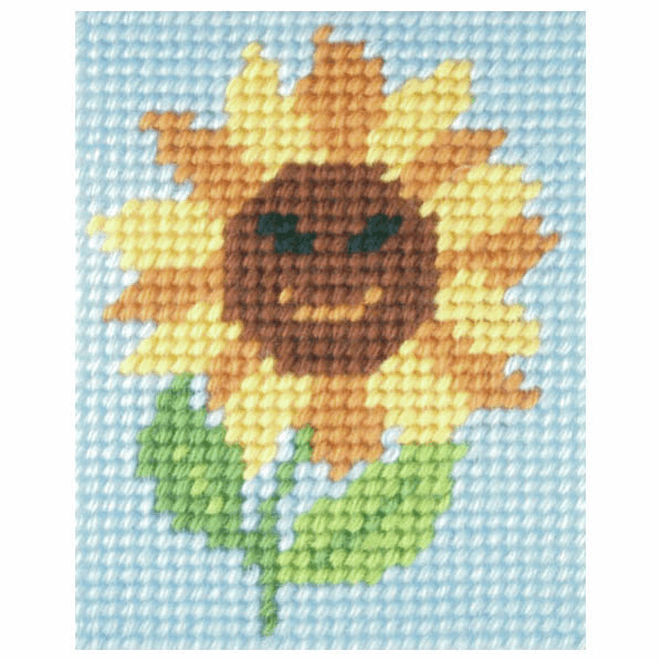 Needlepoint Kit - My First Embroidery - Sunny Sunflower (Orchidea)