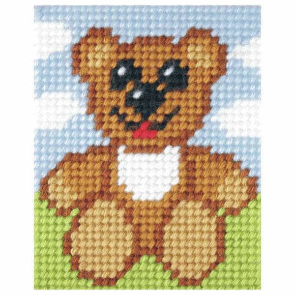 Needlepoint Kit - My First Embroidery - Happy Ted (Orchidea)
