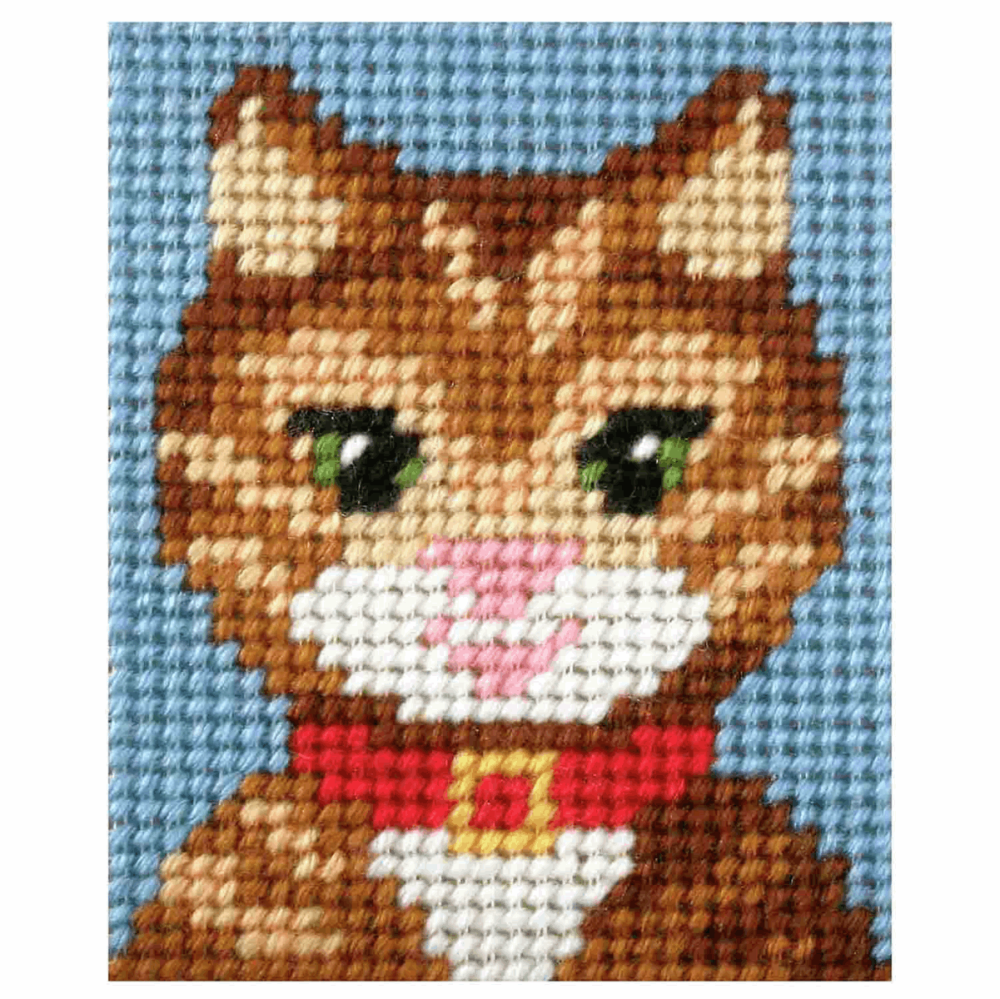 Needlepoint Kit - My First Embroidery -Tabby Cat (Orchidea)