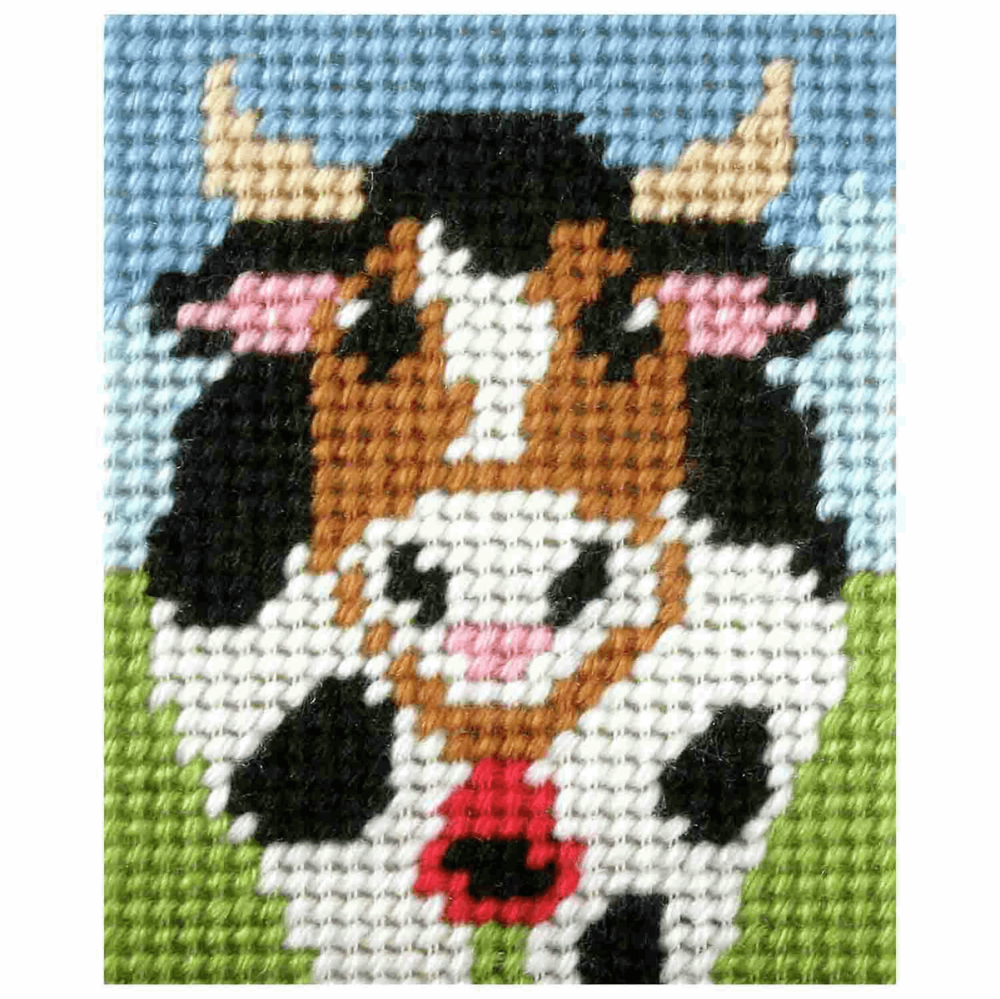 Needlepoint Kit - My First Embroidery - Alpine Cow (Orchidea)