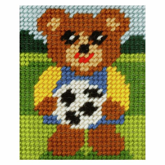 Needlepoint Kit - My First Embroidery - Boy Bear (Orchidea)