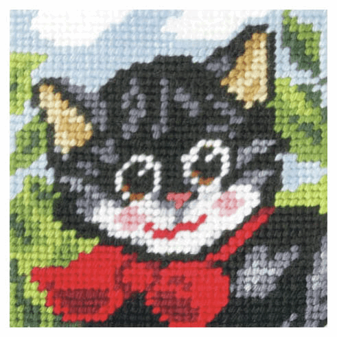 Needlepoint Kit - My First Embroidery - Pussy Cat (Orchidea)