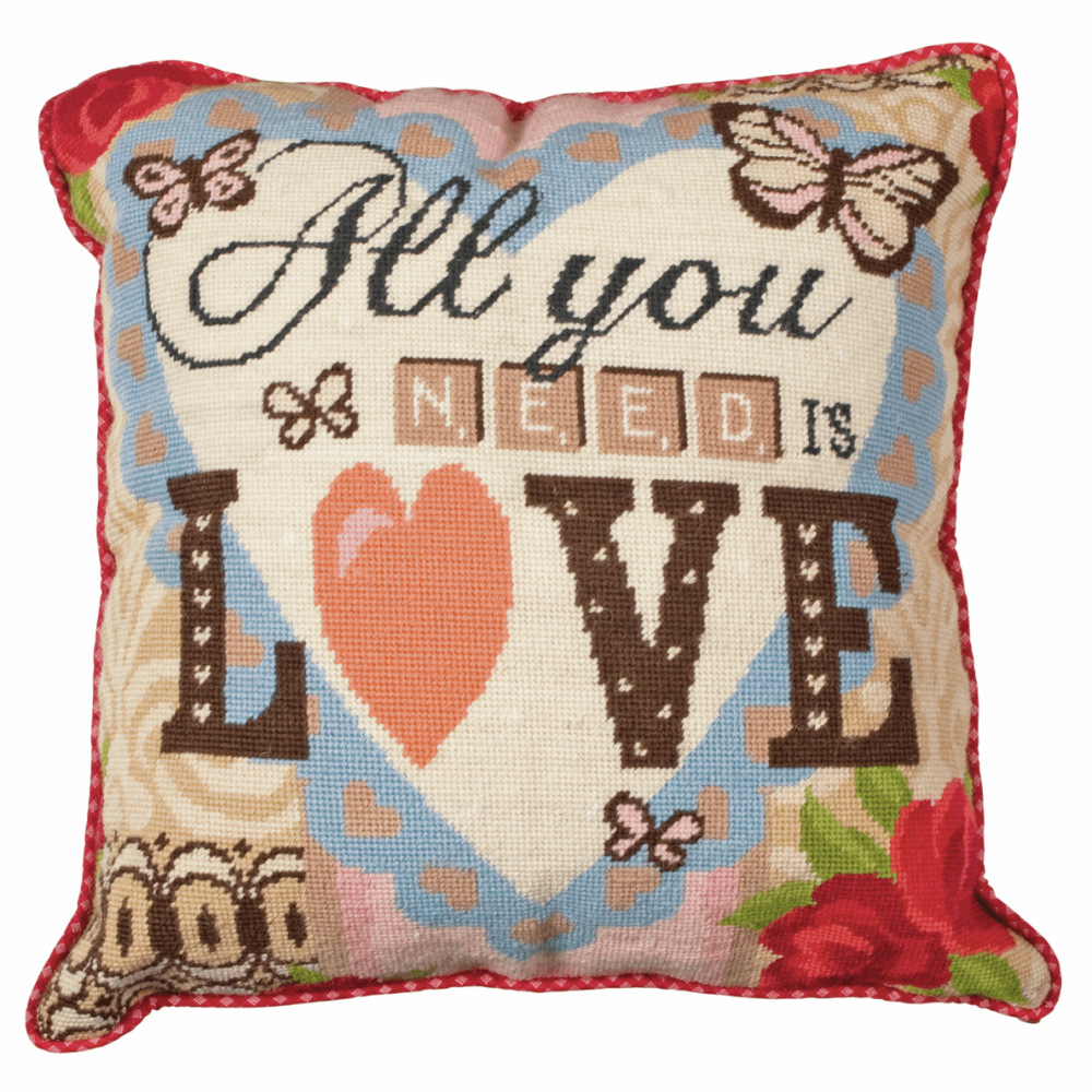 Tapestry Kit - Cushion -  All You Need Is Love (Anchor Living)