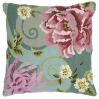 Tapestry Kit - Cushion -  Floral Swirl In Green (Anchor Living)