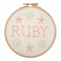 Embroidery Hoop Kit - Baby Name Plate (Anchor)
