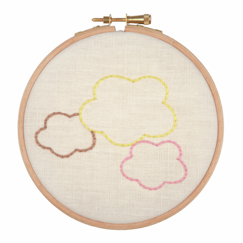 Embroidery Hoop Kit - Dreams In The Clouds (Anchor)