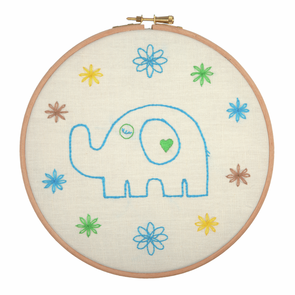 Embroidery Hoop Kit - Daddy Elephant (Anchor)