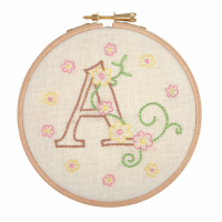 Embroidery Hoop Kit - Baby Letters (Anchor)