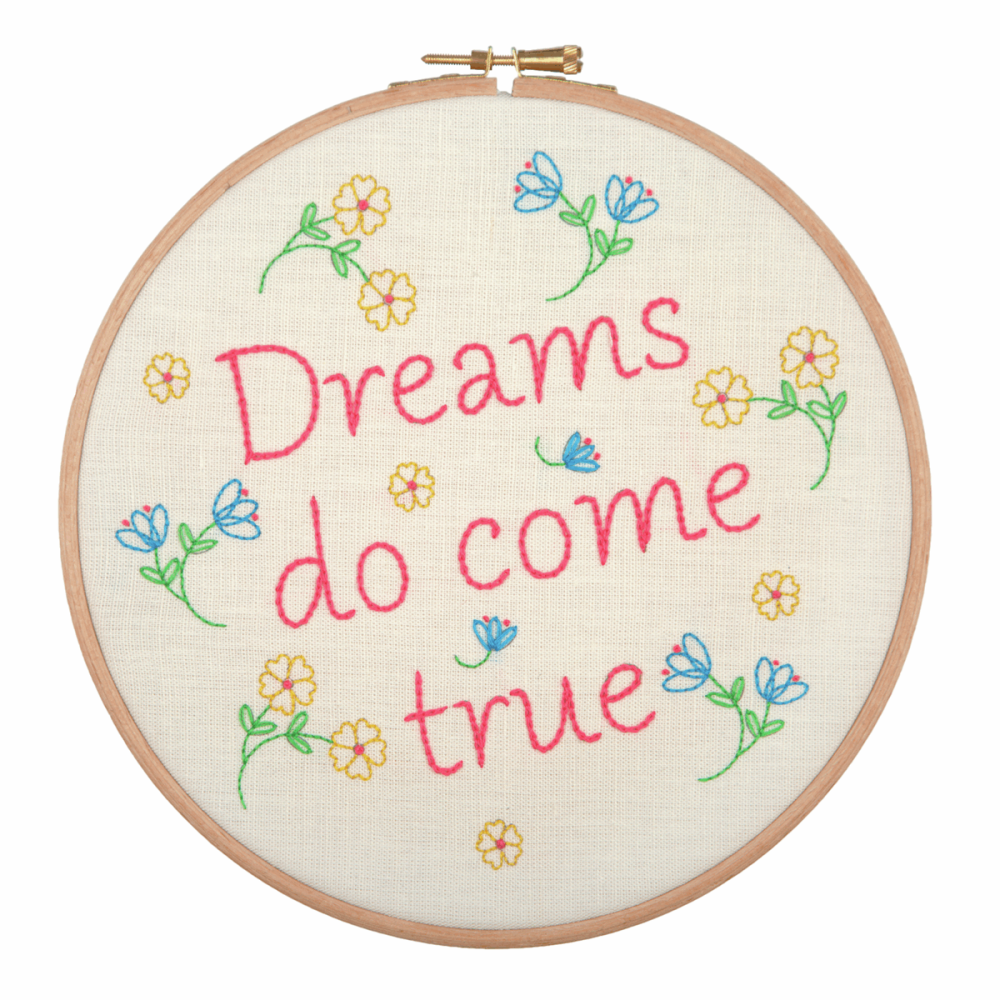 Embroidery Hoop Kit - Dreams Do Come True (Anchor)