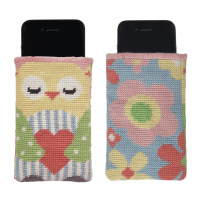 Tapestry Kit - Phone Holder - Owl and Flowers (Anchor)