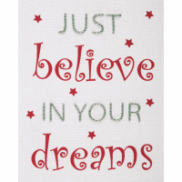 Embroidery  Kit - Just Believe (Anchor)