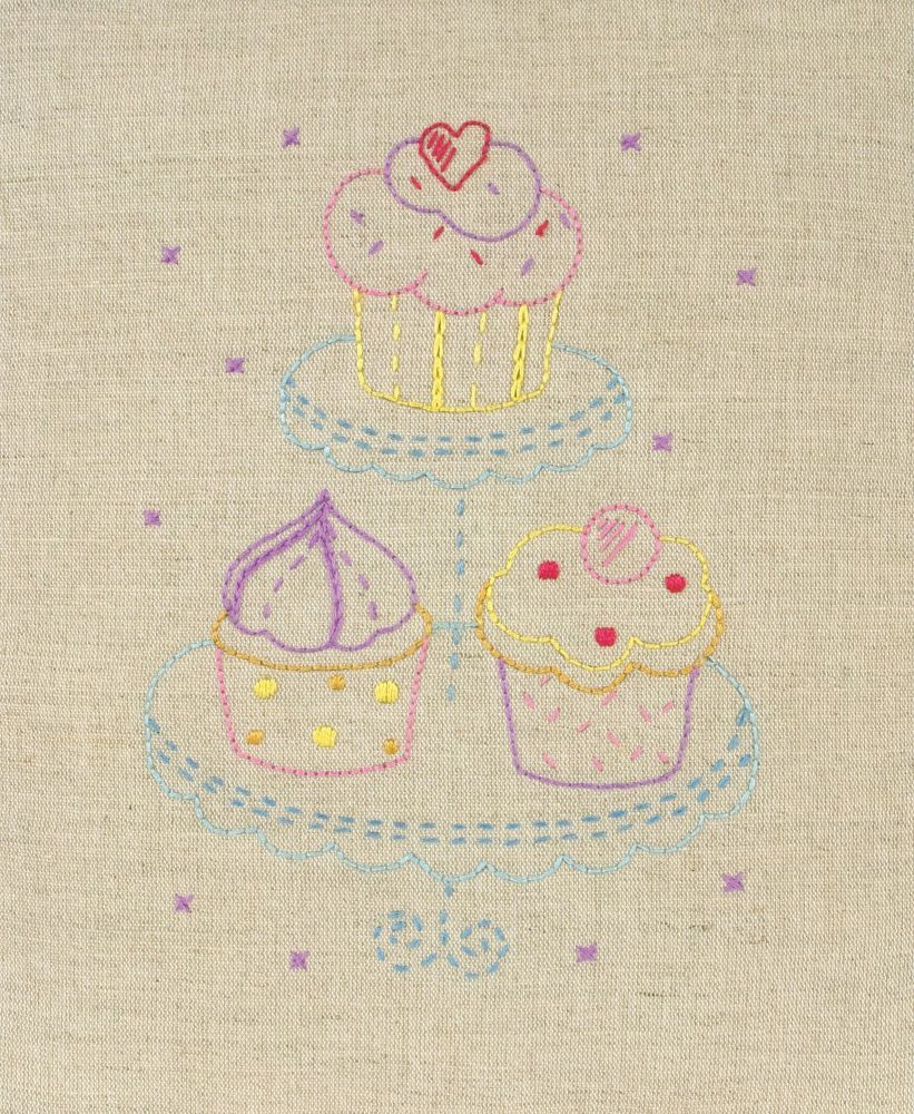 Embroidery  Kit - Cupcake (Anchor)