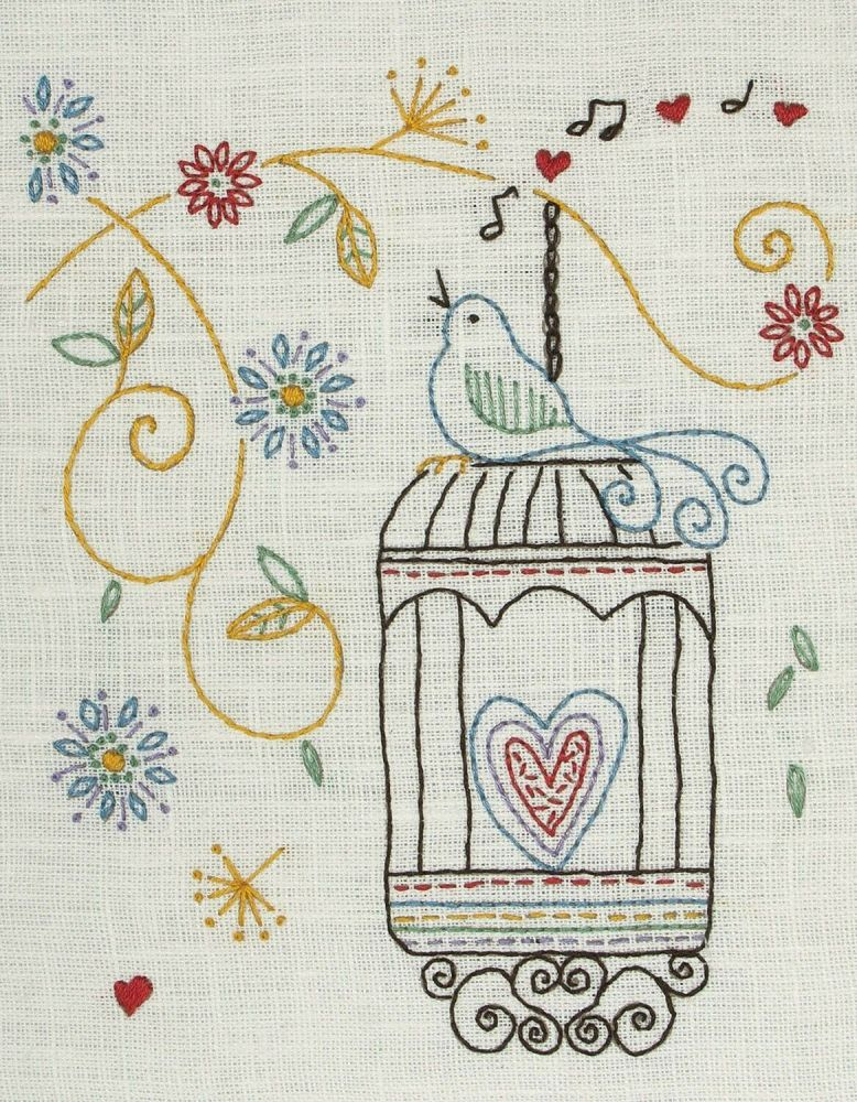 Embroidery  Kit - Birdcage (Anchor)