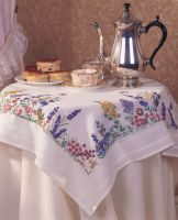 Embroidery  Kit -Spring Flowers Tablecloth (Anchor)