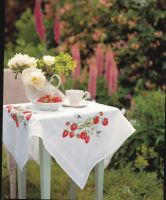 Embroidery  Kit - Strawberries Tablecloth (Anchor)