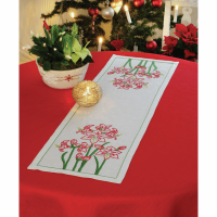 Embroidery  Kit - Amaryllis Runner (Anchor)