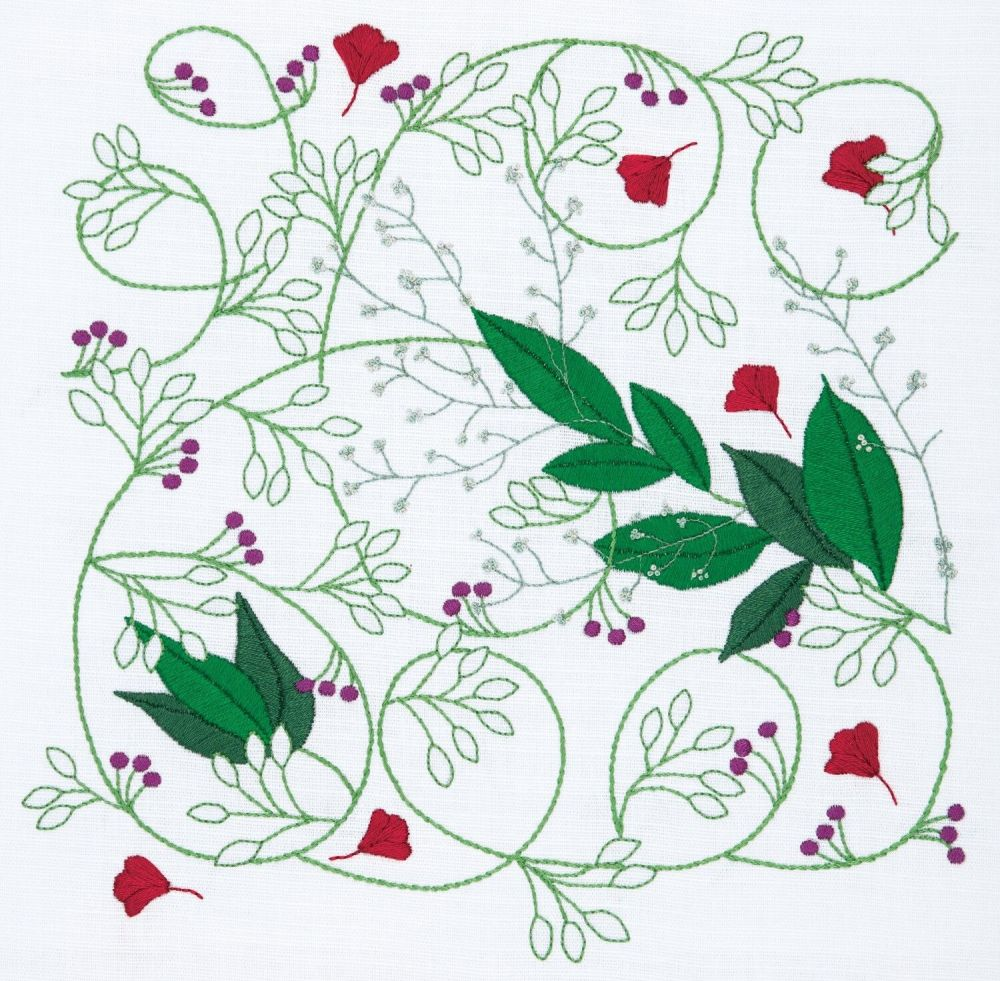 Embroidery  Kit - Summer Vine (Anchor by Dee Hardwicke)