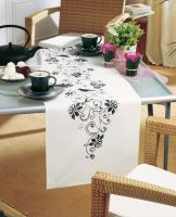 Embroidery  Kit - Black Flowers Runner (Vervaco)