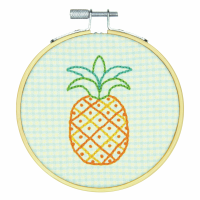 Embroidery Hoop Kit - Pineapple Pattern (Dimensions Learn A Craft)