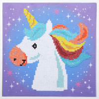 Diamond Painting kit with frame -  Unicorn (Vervaco Kits 4 Kids)
