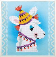Diamond Painting kit with frame -  Llama (Vervaco Kits 4 Kids)