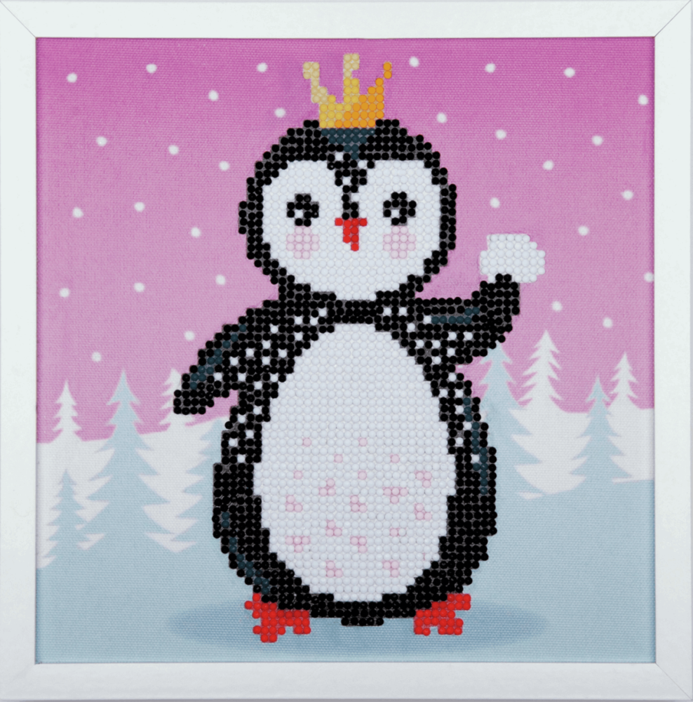 Diamond Painting kit with frame -  Penguin  (Vervaco Kits 4 Kids)