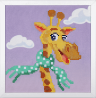 Diamond Painting kit with frame -  Giraffe  (Vervaco Kits 4 Kids)