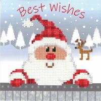 Diamond Painting greeting card kit -  Santa (Vervaco)