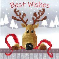 Diamond Painting greeting card kit -  Reindeer (Vervaco)