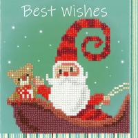 Diamond Painting greeting card kit - Happy Santa (Vervaco)