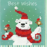 Diamond Painting greeting card kit -  Happy Bear (Vervaco)