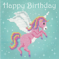 Diamond Painting greeting card kit -  Unicorn (Vervaco)