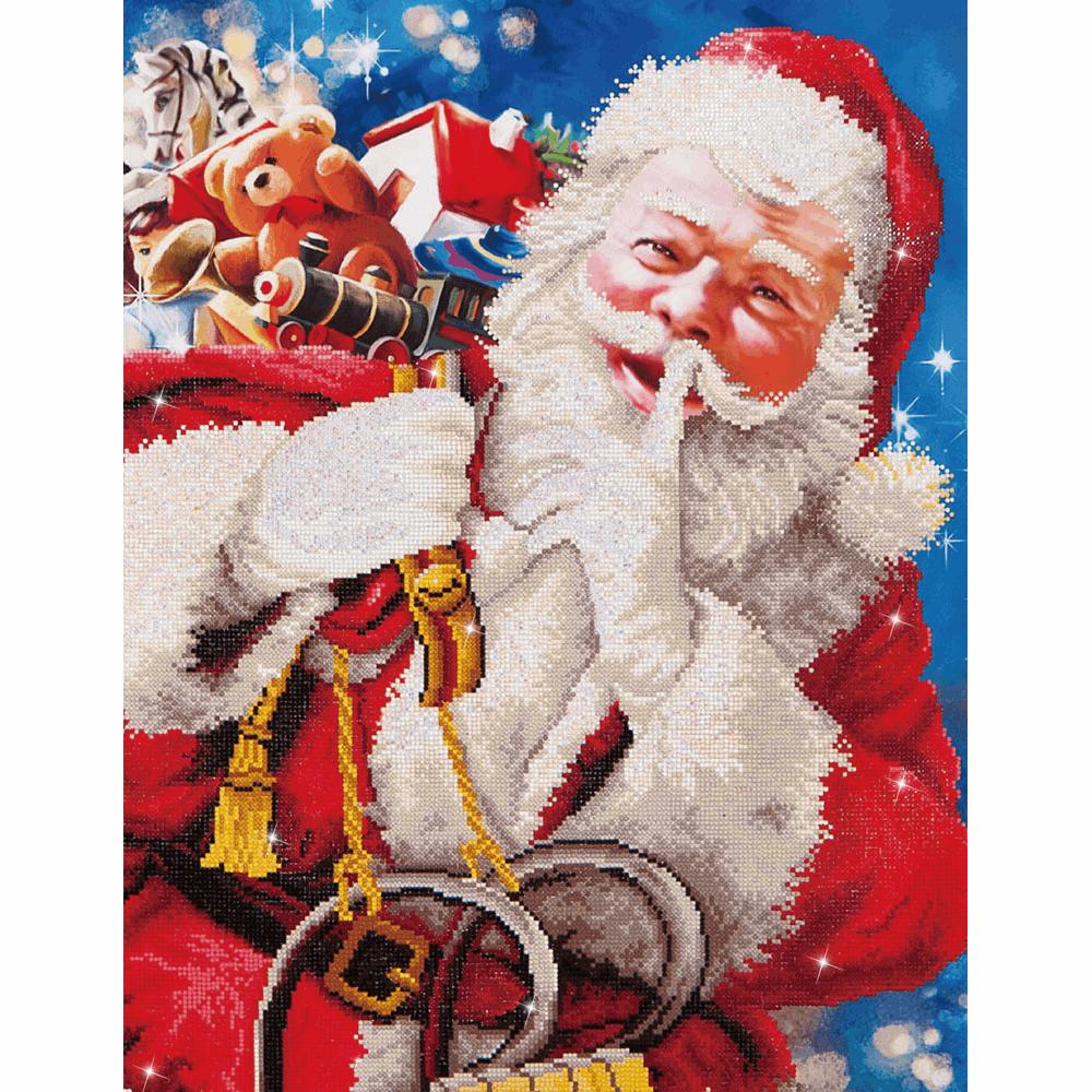 Diamond Facet Art Kit - Santa's Secret (Diamond Dotz)