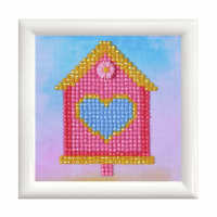 Diamond Painting kit with frame - Home Sweet Home (Diamond Dotz)