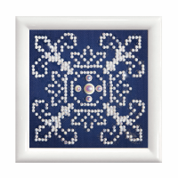 Diamond Painting kit with frame -  White On Blue (Diamond Dotz)