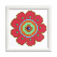 Diamond Painting kit with frame - Flower Power (Diamond Dotz)