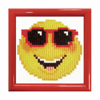 Diamond Painting kit with frame - Smiling Face (Diamond Dotz)