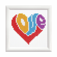 Diamond Painting kit with frame - Love (Diamond Dotz)